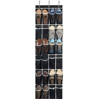 Over the Door Shoe Organizer -24 Breathable Pockets, Hanging Shoe Holder for Maximizing Shoe Storage, Accessories, Laundry Items