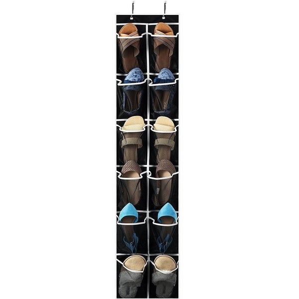 Narrow Over The Door Shoe Organizer With 12 Mesh Pockets, Organizer For  Accessories And Laundry
