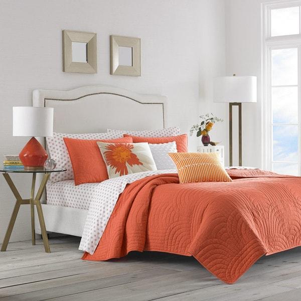 Trina Turk Palm Desert Orange Quilt Set