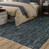 The Curated Nomad Alma Moroccan Solid Fringe Area Rug - 7'10 x 10'10