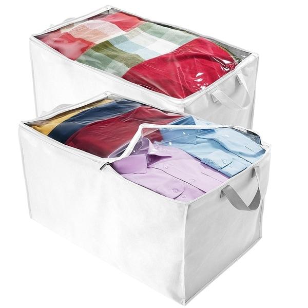 Jumbo Blanket, Storage Bags With Zipper, Comforter Underbed Closet Soft  Storage Plastic Bag White