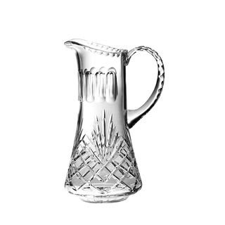"Majestic Gifts Hand Cut - Mouth Blown Crystal Pitcher - 32oz.-7.5"" height - Made in Europe"