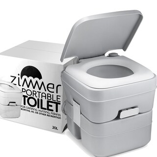 Comfort Portable Toilet 5 Gallon Capacity, RV Toilet With Detachable Tanks, Easy To Use for Camping Toilet or Travel