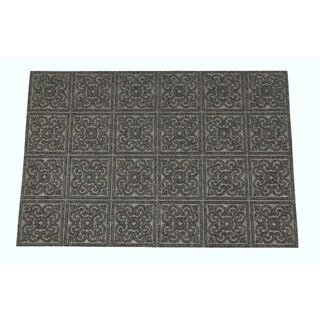 "Mats Inc. Aqua Thirst Rubber Back Medallion Entrance Mat, 18"" x 30"""