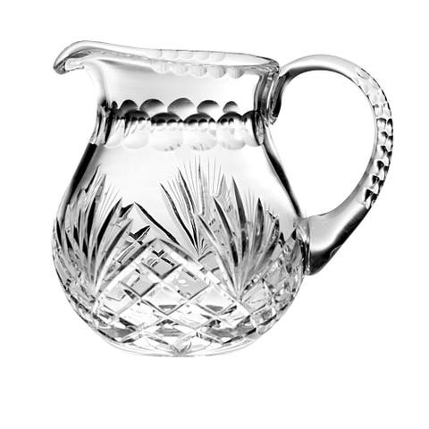 """Majestic Gifts Hand Cut - Mouth Blown Crystal Pitcher - 38oz. - 7"""" height - Made in Europe"""