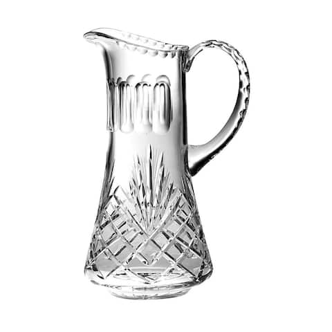 """Majestic Gifts Hand Cut - Mouth Blown Crystal Pitcher - 54oz. -11"""" height - Made in Europe"""