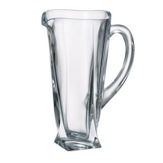 Majestic Gifts Crystalline Glass Pitcher Wth Handle With Spout - 37 oz. - Made in Europe
