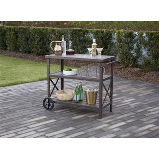 Avenue Greene Dark Brown 3 Shelf Serving Cart