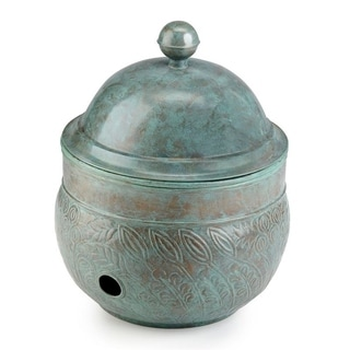 Brass Key West Hose Pot With Lid   Blue Verde By Good Directions