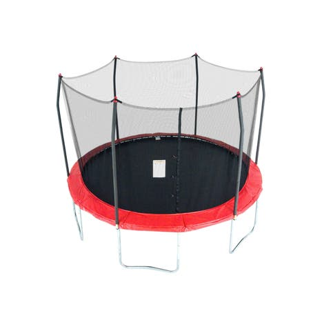 Skywalker Trampolines 12' Round Trampoline with Enclosure - Red