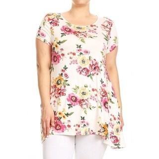 Women's Plus Size Floral Pattern Tunic