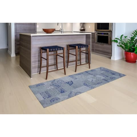 "Mats Inc. Mattisimo All Weather Runner, Dandy Blue Gray, - 2'3"" x 6'7"""