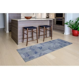 "Mats Inc. Mattisimo All Weather Runner, Dandy Blue Gray, 2'2"" x 6'7"""