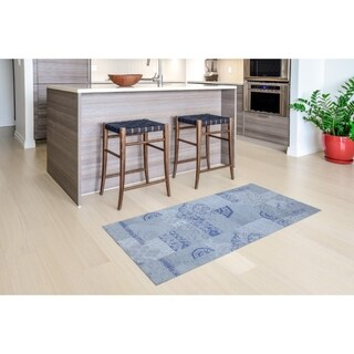 "Mats Inc. Mattisimo All Weather Runner, Dandy Blue Gray, 2'2"" x 4'11"""