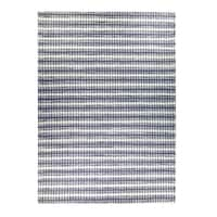 Mats Inc. Double Weave Wool Blend Hand-Woven Area Rug, Gray White, 5' x 7'