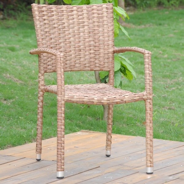 International Caravan Ibiza Aluminum Outdoor Wicker Dining Chair