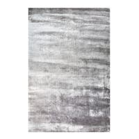 Mats Inc. Banana Silk Hand Tufted Area Rug, Silver Gray,