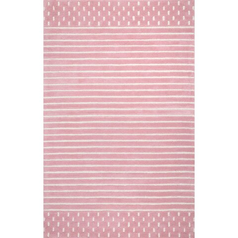 nuLOOM Coastal Solid Stripes Wool Area Rug