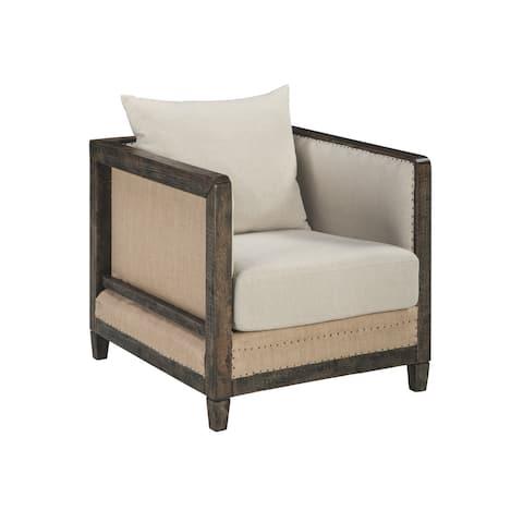 Copeland Vintage Casual Linen Accent Chair