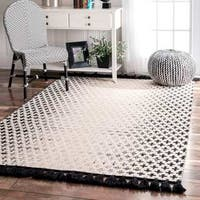 nuLOOM Handmade Flatweave Wool Reversible Tassel Area Rug - 3' x 5'