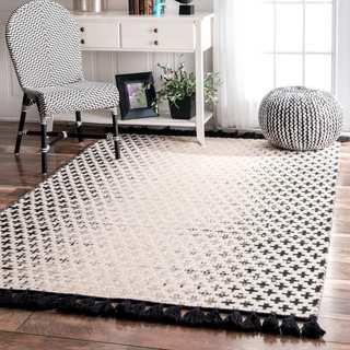 nuLOOM Handmade Flatweave Wool Reversible Tassel Area Rug (3' x 5')