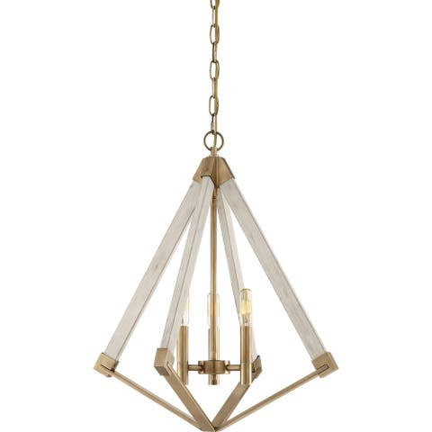 Quoizel View Point Weathered Brass 3-light Foyer Piece