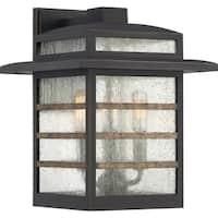 Quoizel Plaza Palladian Bronze 60-watt Wall Lantern