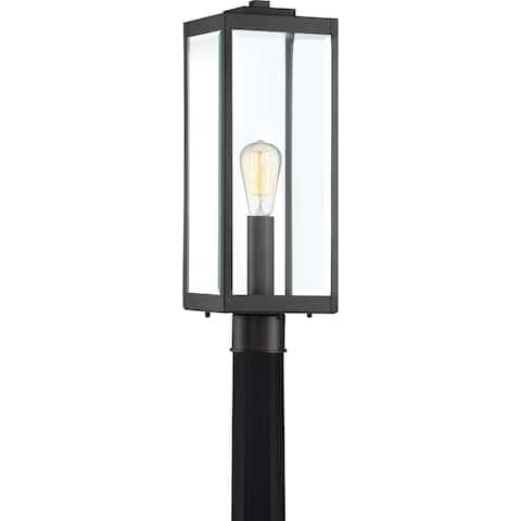 Quoizel Westover Earth Black Post Lantern