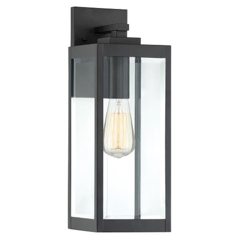 Quoizel Westover Earth Black 100-watt Wall Lantern