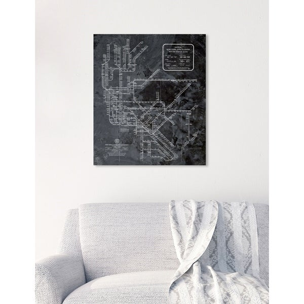 Black And White Subway Map Tapestry.Shop Oliver Gal Ny Subway Map Dark Rustic Maps And Flags Wall Art