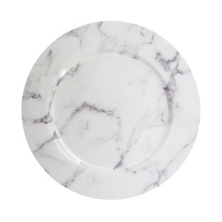 """marble white/gray charger plate 13"""""""