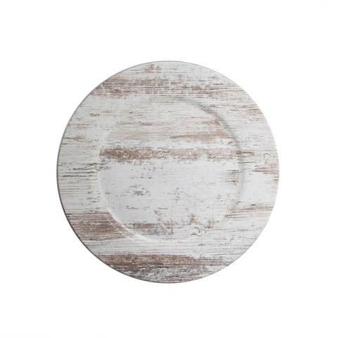"""birch wood finish charger plate 13"""""""
