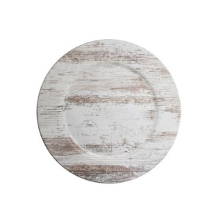 birch wood finish charger plate 13""