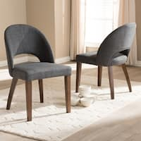 Mid-Century Fabric Upholstered Dining Chair Set by Baxton Studio