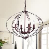 Dana 4-Light Rustic Iron Pendant Lamp