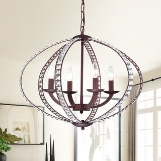 Dana 4-Light Rustic Iron Pendant Lamp