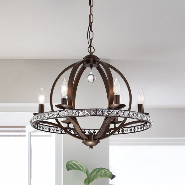 Lovi 6 Light Antique Bronze Pendant Lamp