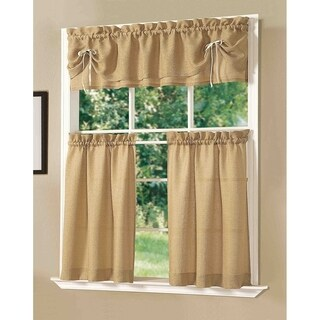 Dainty Home Lucia Kitchen Window Curtain Set of 3