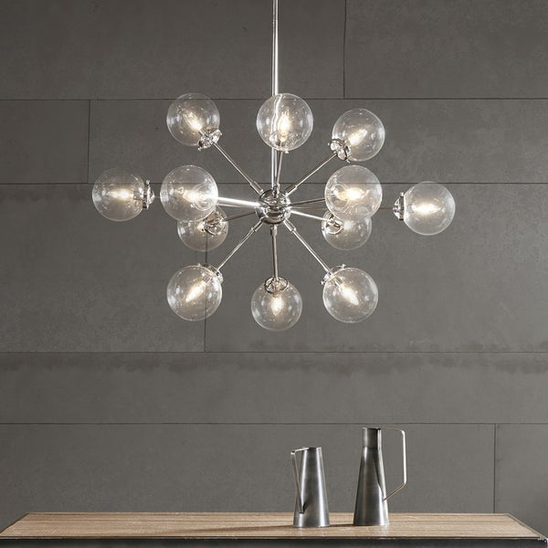 INK+IVY Paige Silver Chandelier
