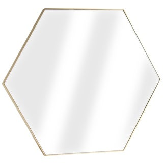 Millennium Art Gold Framed Hexagon Wall Vanity Infinity Mirror
