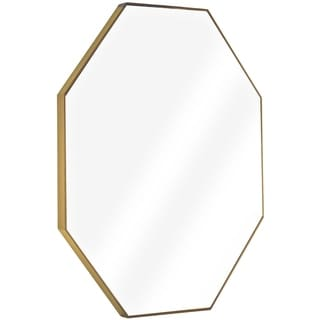American Art Decor Gold Octagon Framed Wall Vanity Infinity Mirror - A/N