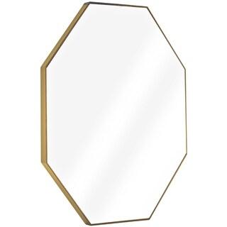 Millennium Art Gold Octagon Framed Wall Vanity Infinity Mirror