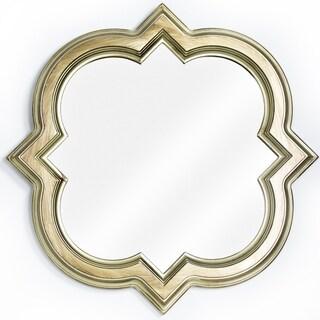 Gold Framed Quatrefoil Wall Vanity Mirror