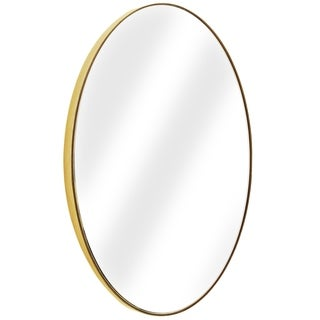 American Art Decor Gold Oval Framed Wall Vanity Infinity Mirror