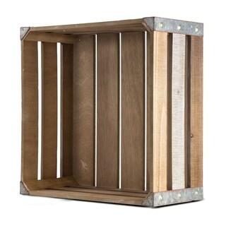 American Art Decor Rustic Wood Storage Large Crate