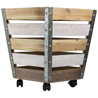 American Art Decor Large Storage Crate with Wheels