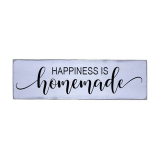 Happiness is Homemade Handmade Farmhouse Wood Wall Art Sign Pine Wood