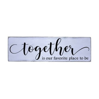 Together Handmade Farmhouse Wood Wall Art Sign Natural Pine Wood