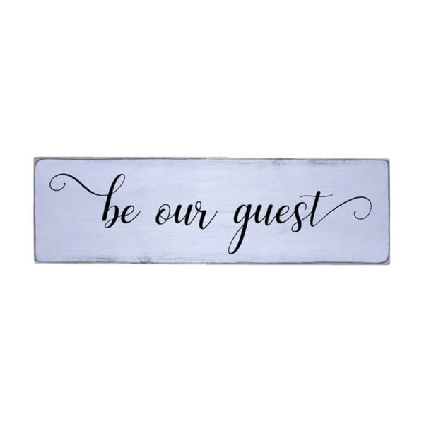 Be Our Guest Handmade Farmhouse Wood Wall Art Sign Natural Pine Wood
