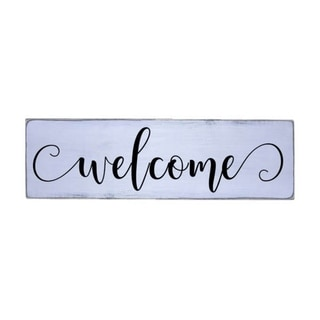 Welcome Modern Handmade Farmhouse Wood Wall Art Sign Natural Pine Wood